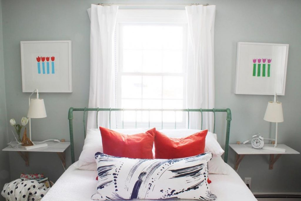 Benjamin Moore Woodlawn Blue Bedroom Paint Color Scheme