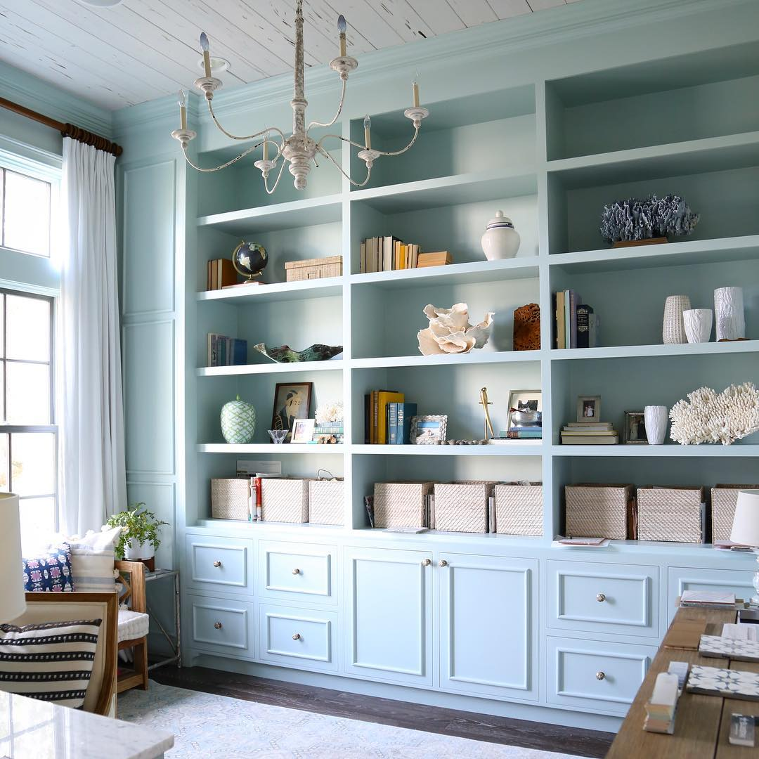 Benjamin Moore Woodlawn Blue Paint Color Schemes Interiors By Color