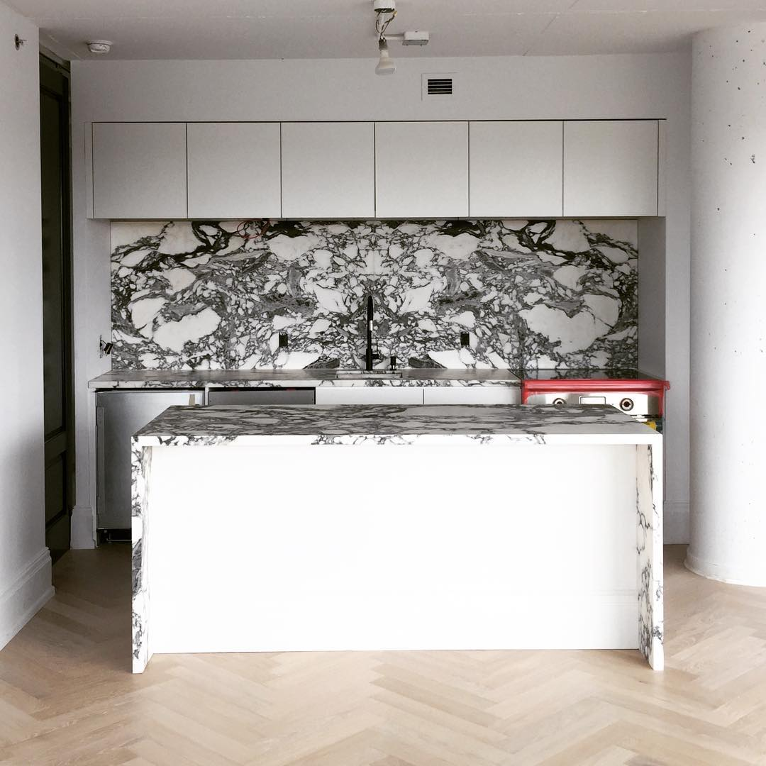 Black and White Marble Kitchen - Interiors By Color