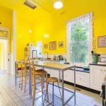 Bright Cheery Yellow Painted Kitchen Yellow paint color scheme
