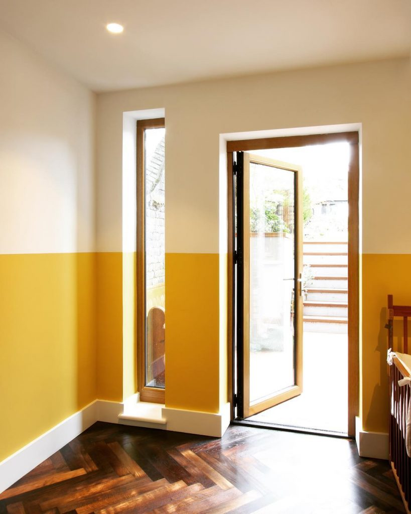 Farrow & Ball Babouche Yellow and White Wall Paint Color Palette