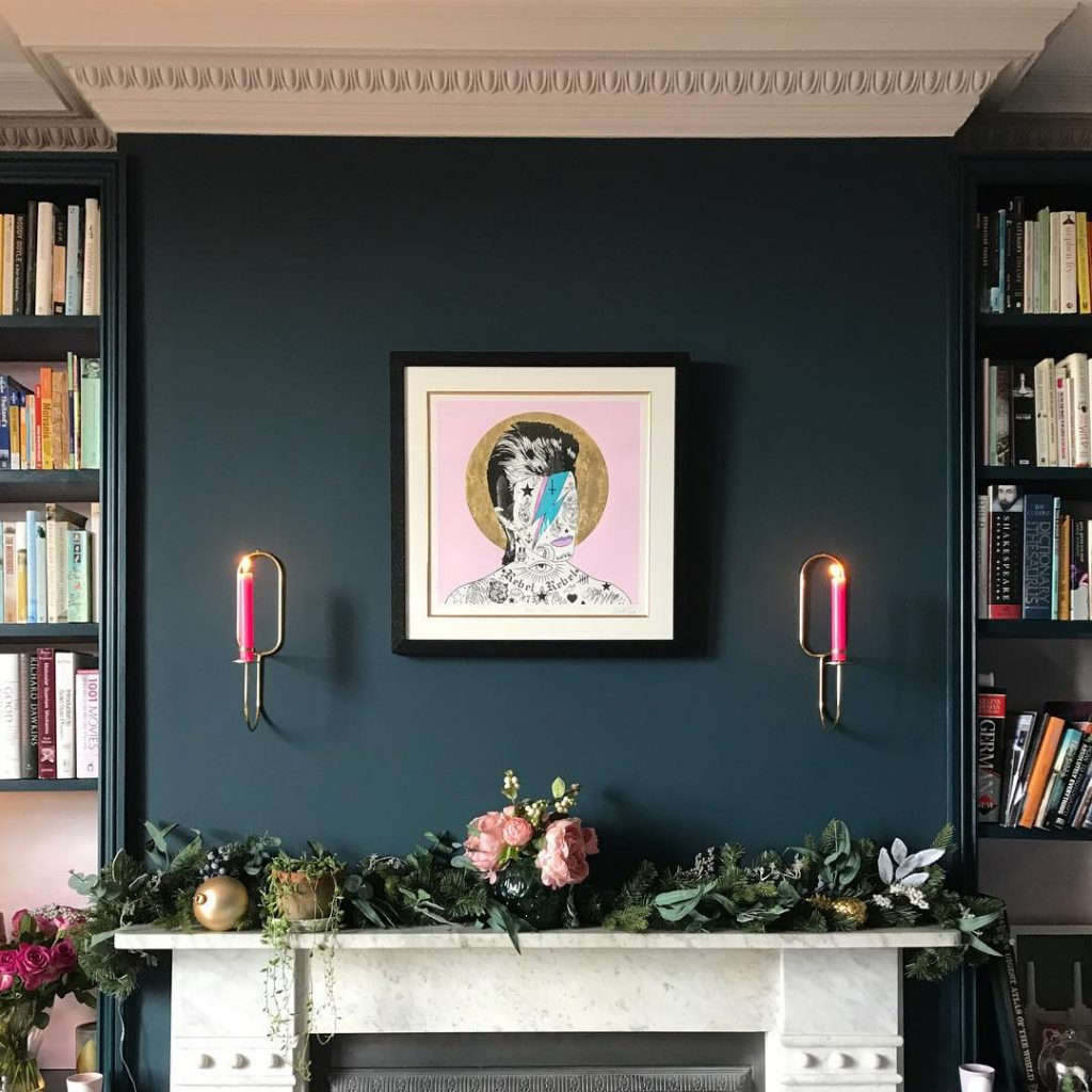 farrow ball hague blue living room interiors by color. Black Bedroom Furniture Sets. Home Design Ideas