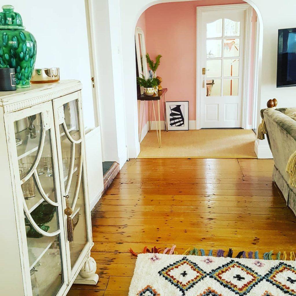 Farrow & Ball Nancy's Blushes Pink Paint Color Scheme