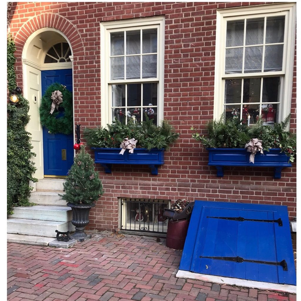Fine Paints of Europe Delft Blue Painted Front Door