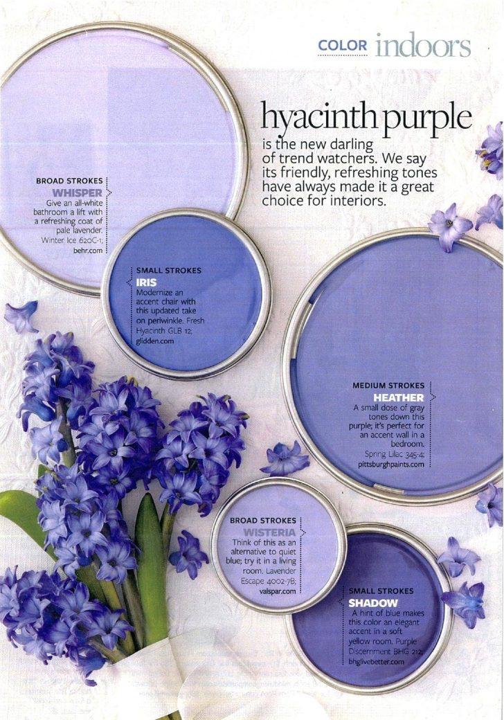 Hyacinth Purple Paint Color Palette Interiors By Color