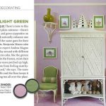 Pink and Light Green Paint Color Palette