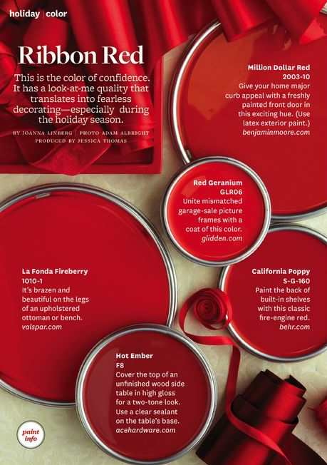Ribbon Red Paint Color Palette