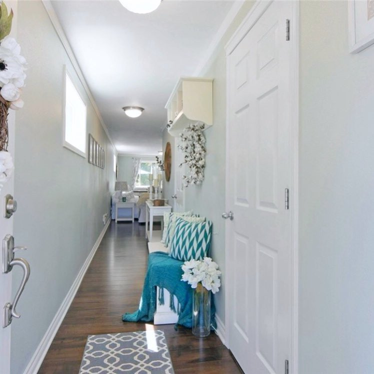Sherwin Williams Sea Salt Paint Hallway Walls