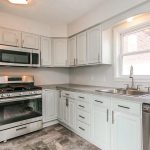 Sherwin Williams Sea Salt Painted Kitchen Cabinets
