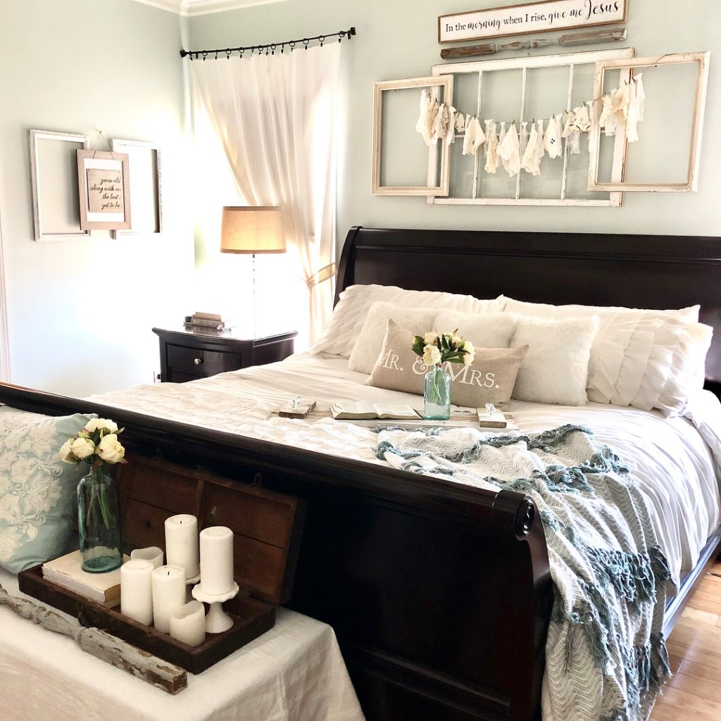 Sherwin Williams Sea Salt bedroom