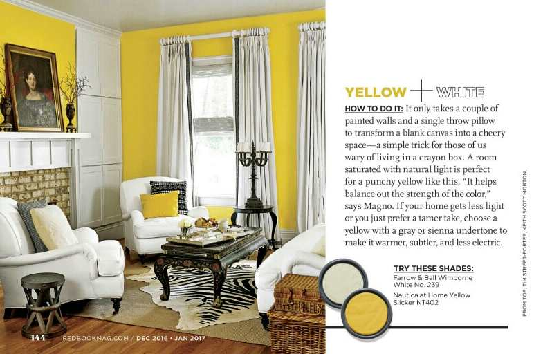 yellow paint color palettes - Interiors By Color (5 interior ...