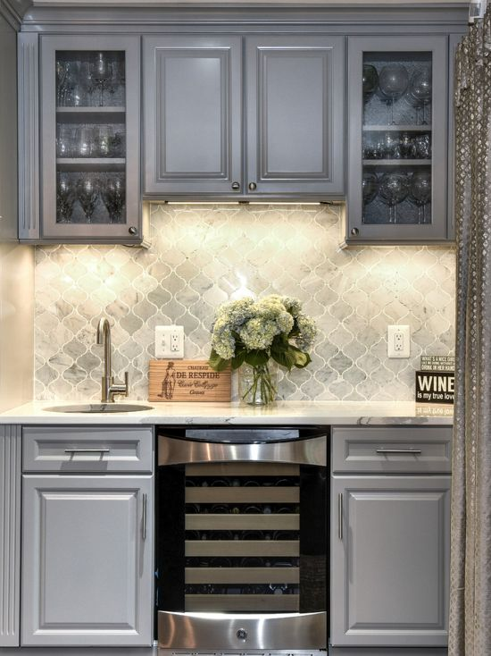 gray kitchen cabinets - Interiors By Color (8 interior ...