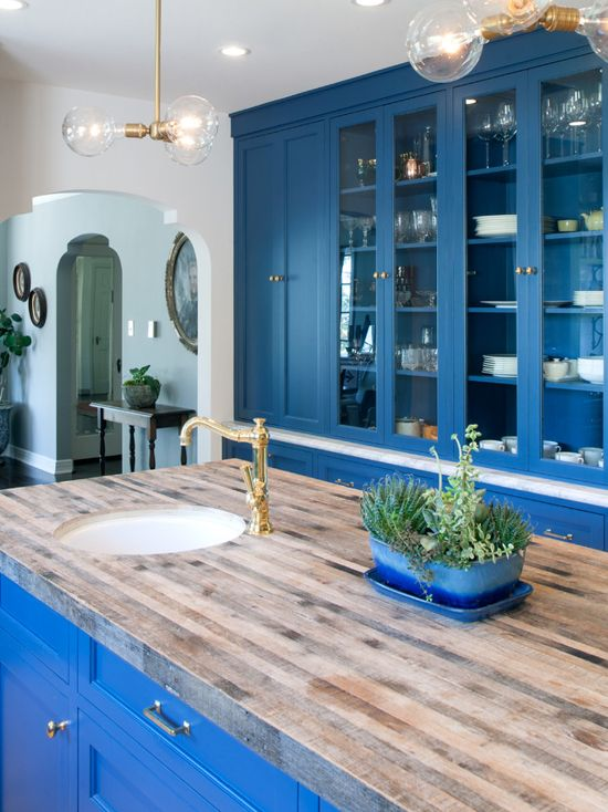 Amazing Blue Kitchen Painted In Farrow Amp Ball Stiffkey