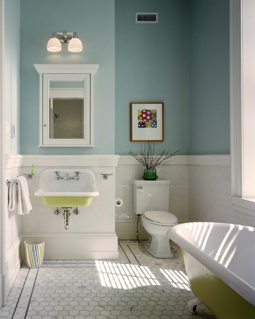 Benjamin Moore Summer Shower Light Blue Paint Color Bathroom