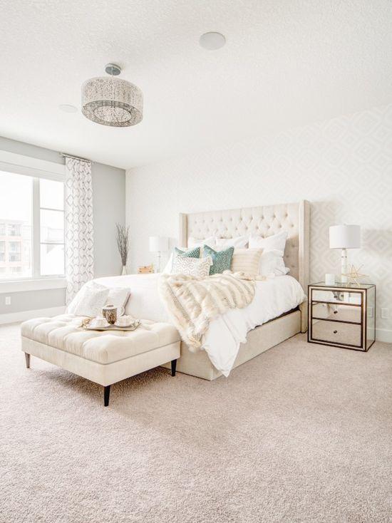 Diamond wallpaper bedroom