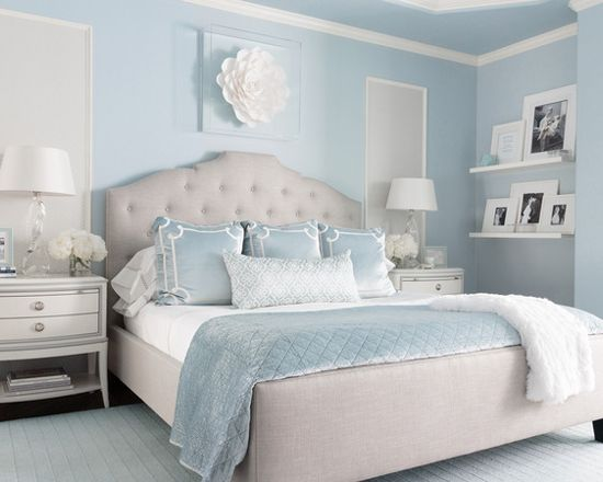 Benjamin Moore Brittany Blue Bedroom - Interiors By Color