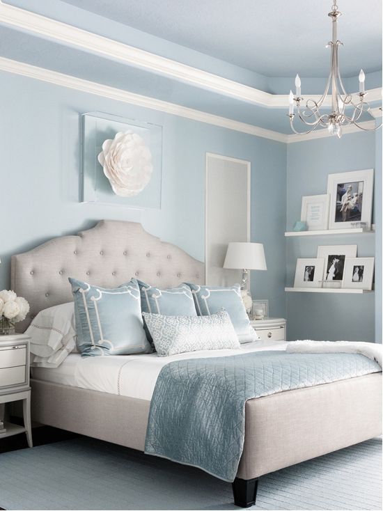 Benjamin Moore Brittany Blue Bedroom