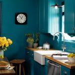 Benjamin Moore Caribbean Blue Water Teal Kitchen Paint Color Scheme