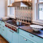 Cabinet Paint - Benjamin Moore Spectra Blue Trim Paint - Benjamin Moore Cotton Balls Wall Paint - Benjamin Moore Winds Breath blue kitchen
