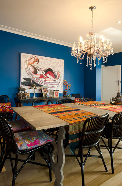 Dulux Silk Jewel Blue Dining Room Walls