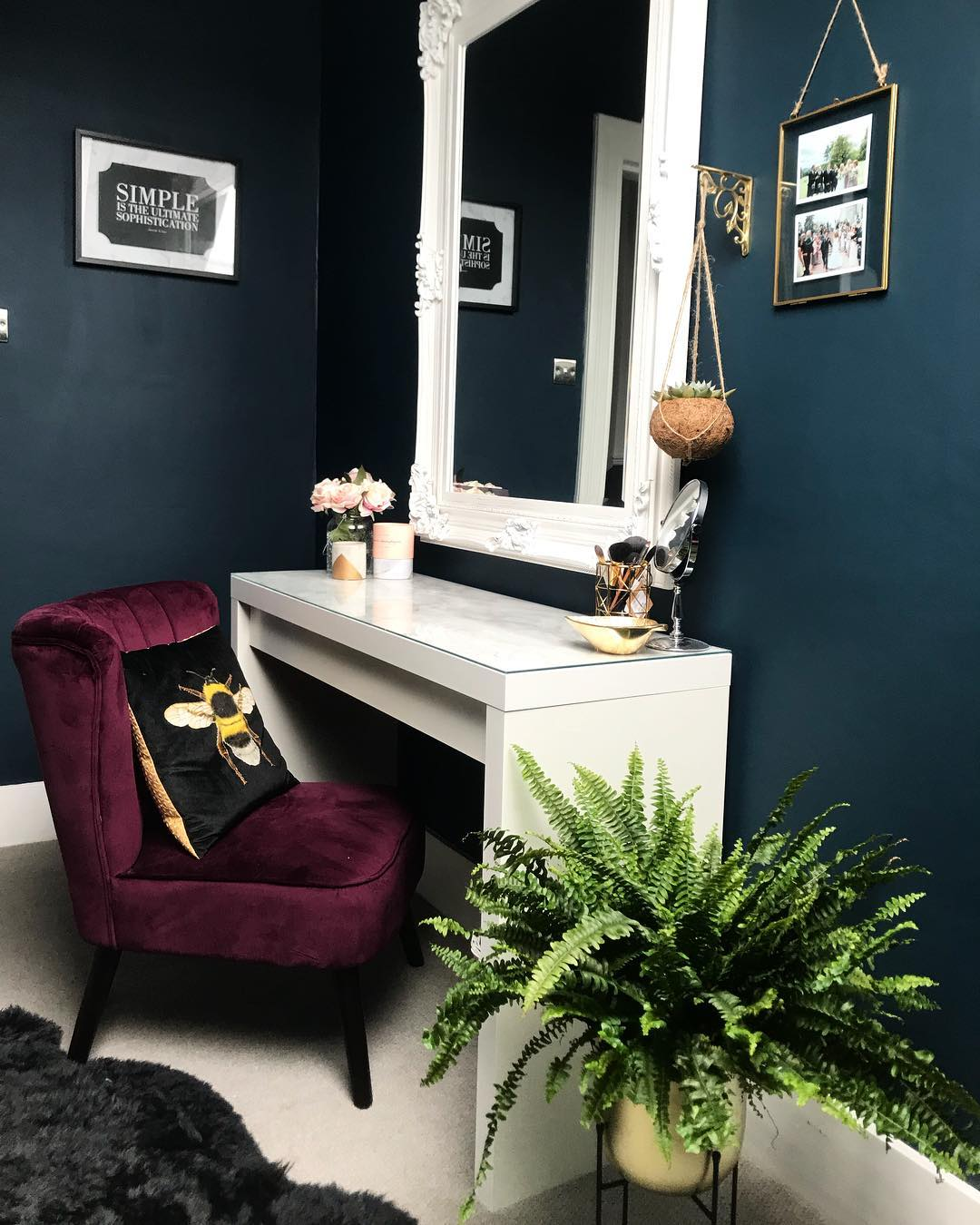 Farrow & Ball Hague Blue Dressing Room