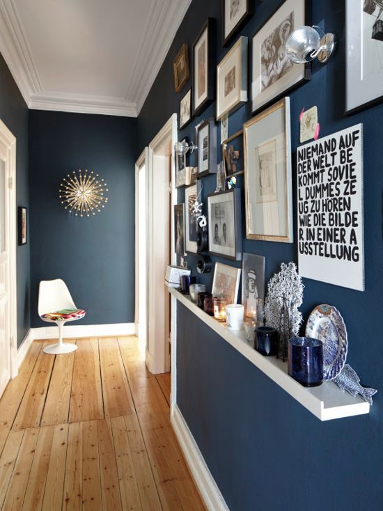 Farrow & Ball Hague Blue Hallway