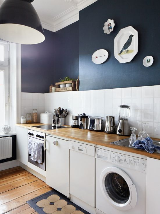 Farrow & Ball Hague Blue Kitchen