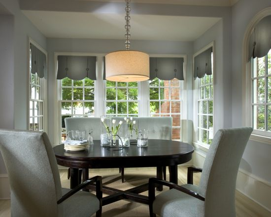 Sherwin Williams Topsail Light Blue Painted Dining Room Color Scheme