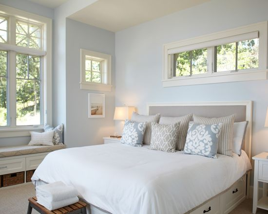 Sherwin Williams Topsail Light blue bedroom color scheme