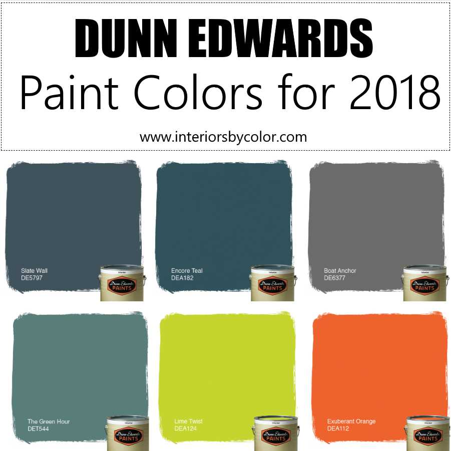 Home Exterior Color Schemes 2018: Top 6 Dunn Edwards Paint Colors For 2018