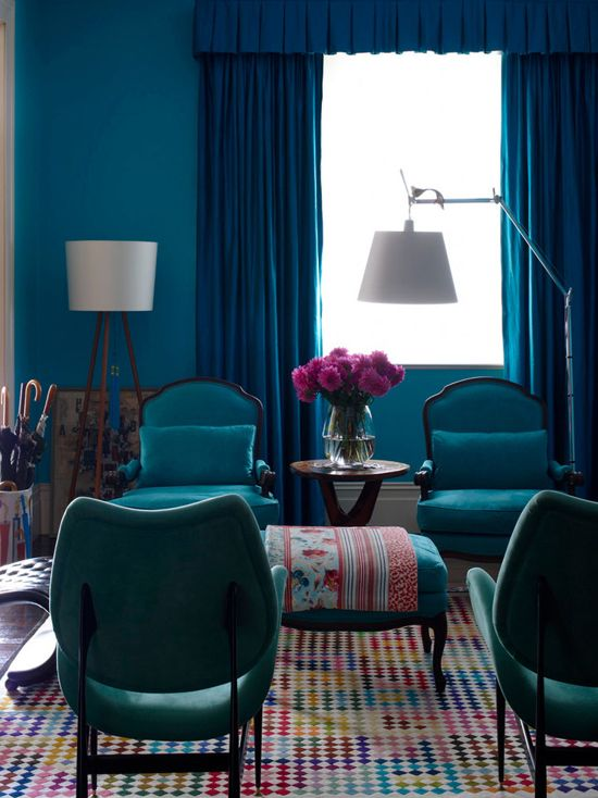 Turquoise Walls Interiors By Color 47 Interior