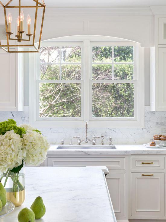 White kitchen color scheme