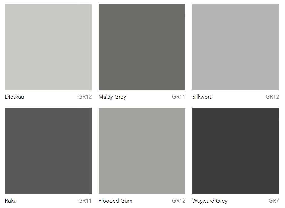 Dulux Most Por Grey Paint Colours