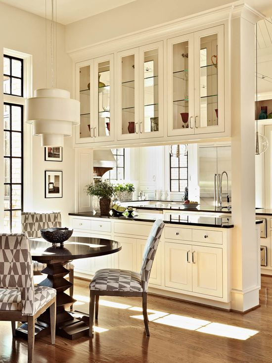 Traditional Kitchen in White Pained in Sherwin Williams Alabaster.