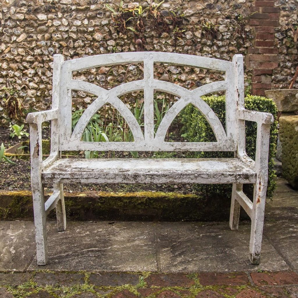 Garden Bench Design Ideas White Vintage Park Bench