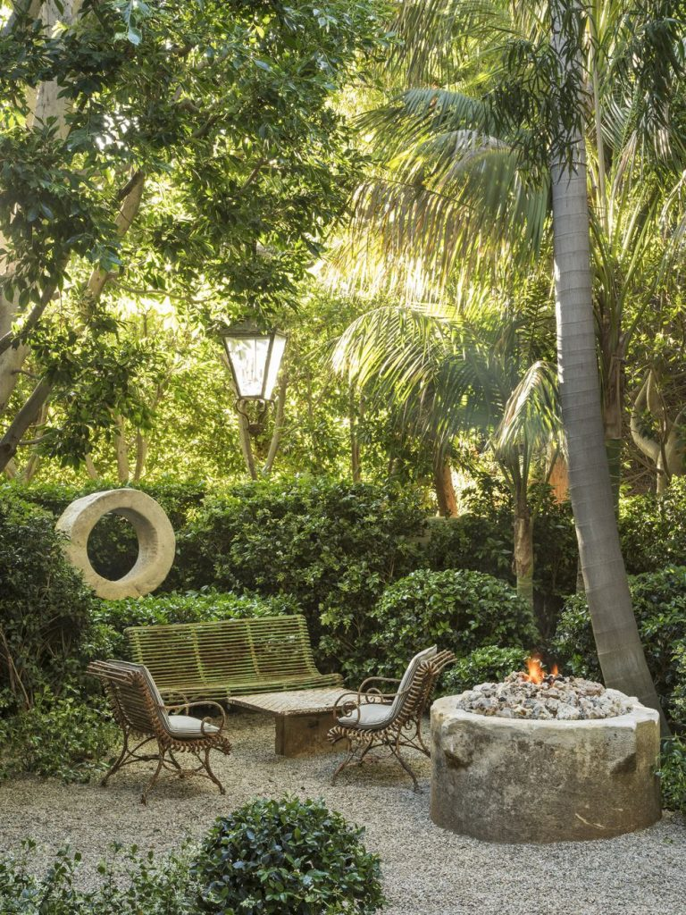 Patio idea with firepit