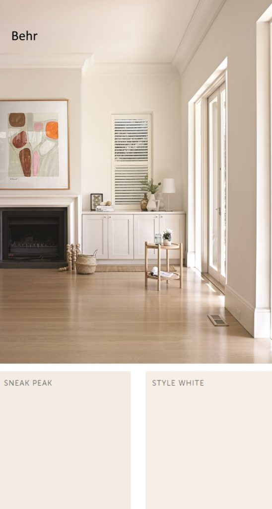 Behr neutral paint colors for 2020 Sneak Peak and Style White