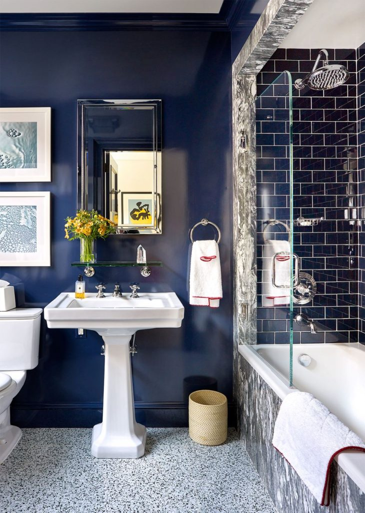 Benjamin Moore Deep Royal Bathroom Interior Design