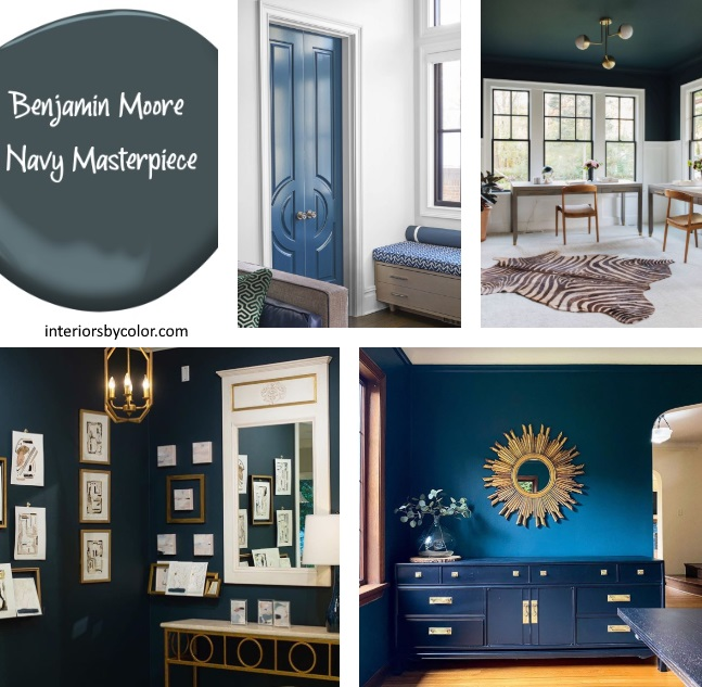 Benjamin Moore Navy Masterpiece Paint Color 2020
