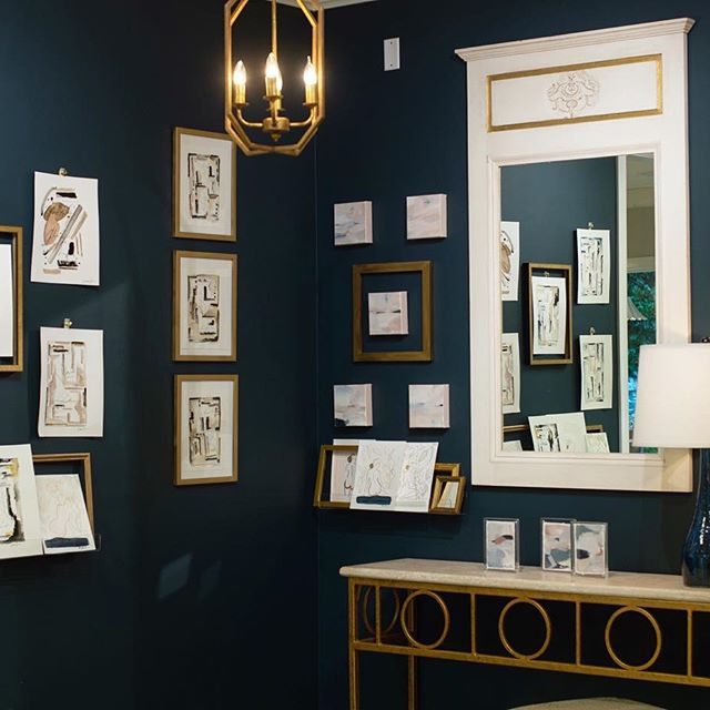 Navy Masterpiece wall color by Benjamin Moore