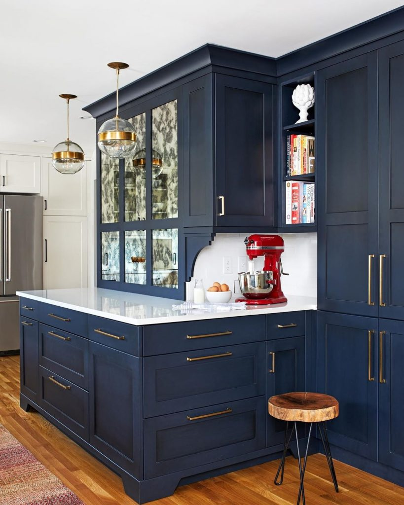 Blue kitchen The Elmwood series Polo Blue Dusk cabinet color