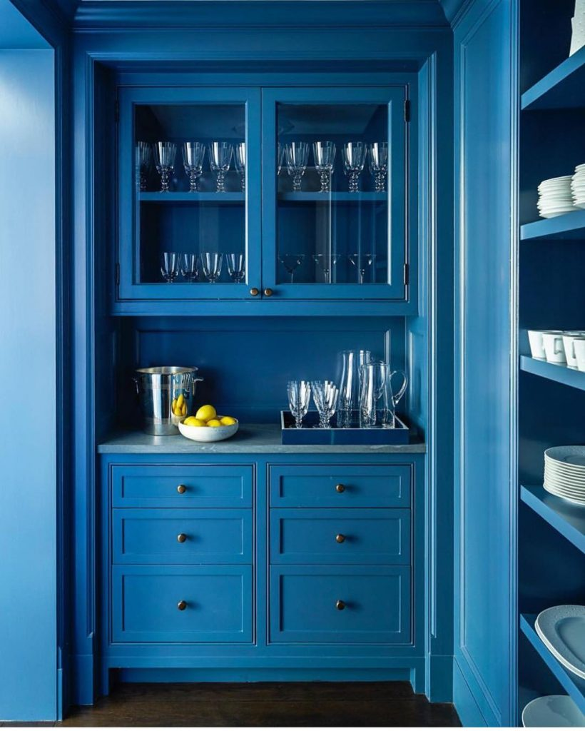 Blue painted butlers pantry