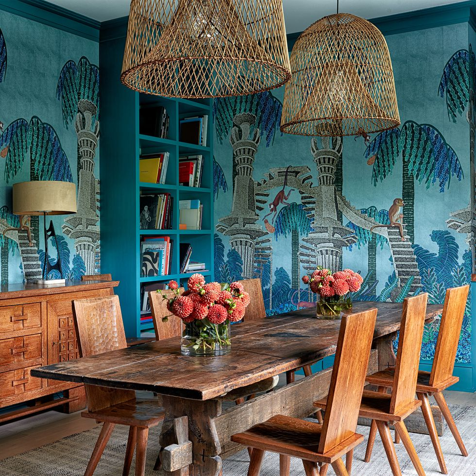 eclectic tropical living room interior design