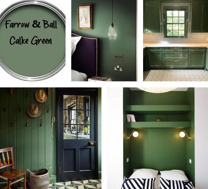 Farrow & Ball Calke Green Examples