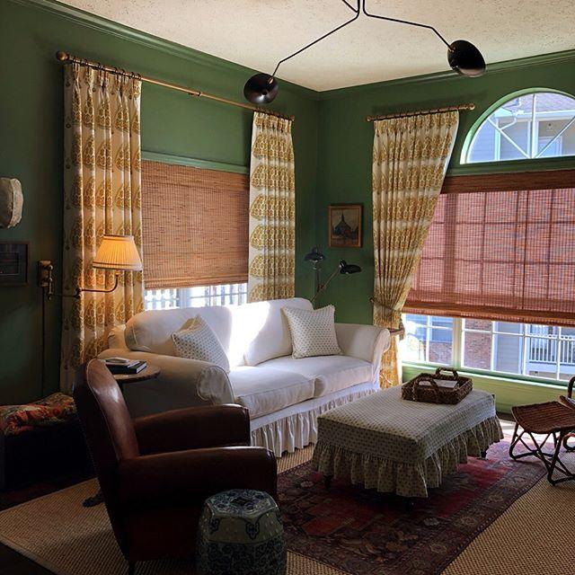 Farrow & Ball Calke Green living room