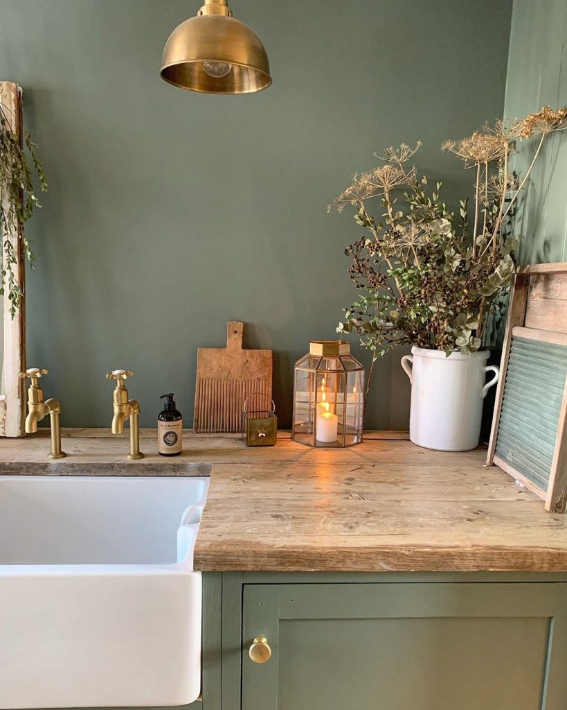 Farrow And Ball Green Smoke Paint Colour Interiors By Color