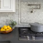 kitchen interior design splashback tiles in neutral
