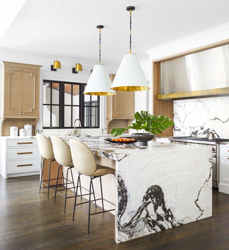 San Simone honed quartzite marble look country kitchen 2020