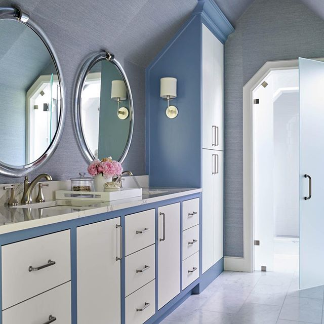 pastel blue and white bathroom