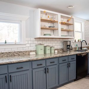 Behr-Calligraphy-paint-kitchen-cabinets - Interiors By Color